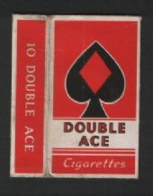 Collectible old English cigarette packet  Double Ace